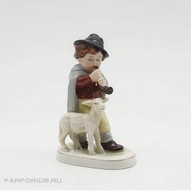 """Статуэтка """"Пастушок"""" (Мальчик с овечкой) Scheibe - Alsbach Германия"""