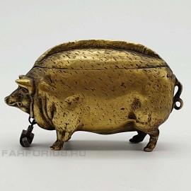 Антикварная свинья - копилка. Бронза