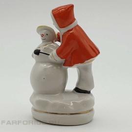 """Статуэтка """"Девочка со снеговиком"""". Городница"""